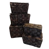 Hyacinth Flipbox Basket, Chocolate