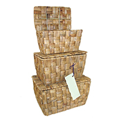 Hyacinth Flipbox Basket, Natural