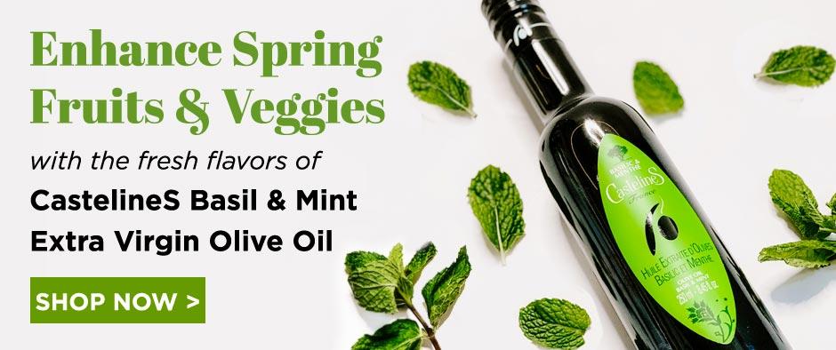 CastelineS Basil & Mint Extra Virgin Olive Oil