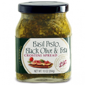 Basil Pesto, Black Olive & Feta Crostini Spread