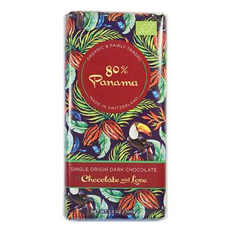 Chocolate and Love Organic Panama 80% Dark Chocolate