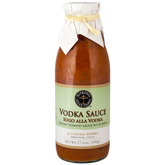 <i>Sugo alla Vodka</i> Creamy Tomato Sauce with Basil