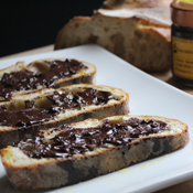 Hazelnut Spread and Olive Oil Bruschetta