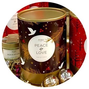 KOBO Peace & Love Pure Soy Candle