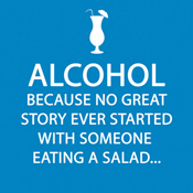 Alcohol Story Cocktail Napkin