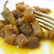B rinjal Caponata with Fork