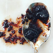 Spiced Raisin Marmalata on Spoon