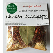 Chicken Cacciatore Slow Cooker Seasoning