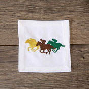 Jockey Silhouettes Cocktail Napkins