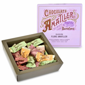 Flors Amatller Chocolate Gift Box Open