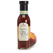 Roasted Peach Whiskey Sauce