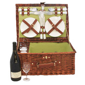 Willow Picnic Basket for 4
