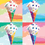 Pop Art Cones Beverage Napkins